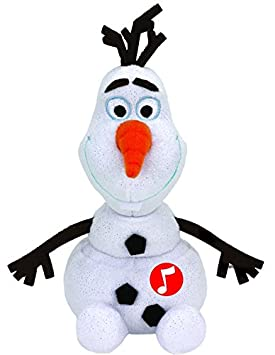 Disney Frozen - Olaf, peluche con sonido, 15 cm, color blanco (TY