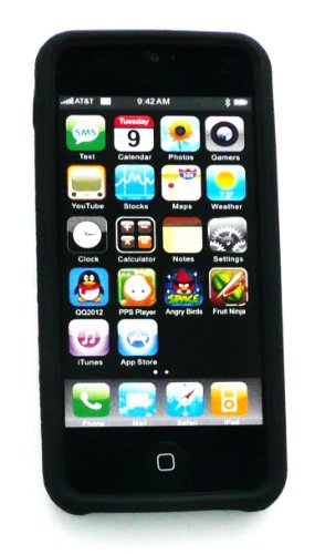 Emartbuy ® Apple Iphone Cover / Case 5 5G Silicon Skin Noir