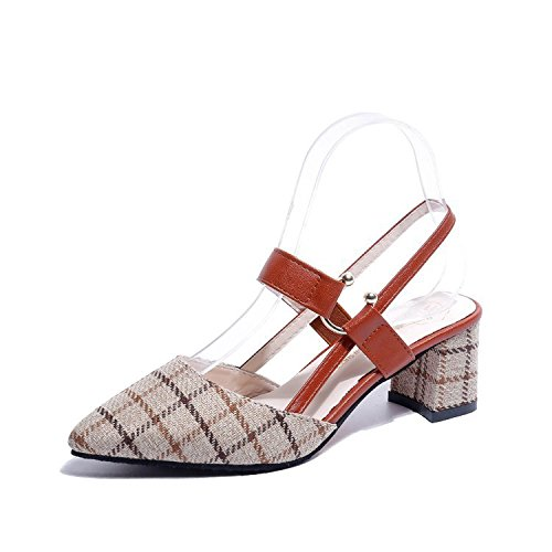 Zapatos de Zapatos un par de Mujer con de Beige de par Mujer yalanshop RztEwq