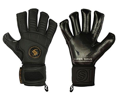 Supersave Pro Suprema – Guantes de portero de fútbol (corte híbrido), color negro