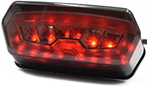 YongYeYaoBEN EG-Lights 1PC Motorcycle Rear Light LED Tail Lamp Motorbike Integrated Turn Signal Indicator For Honda Grom MSX 125 CBR650F CTX700N CTX700