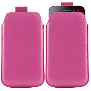 iTALKonline Rosa Caliente Calidad PU de cuero antideslizante funda de protección bolsa con pestaña para Samsung i9000 Galaxy S