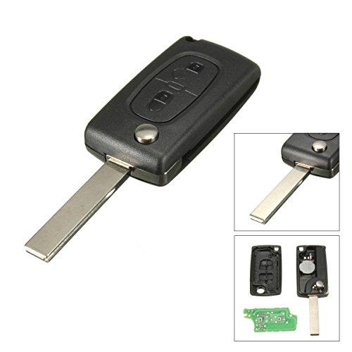 - KaTur 3 Button Remote Flip Key Fob Shell Case Replacement for Citroen Peugeot 207 307 407 308 407 607