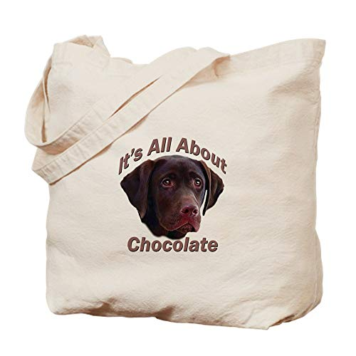 CafePress It's All About Chocolate (LAB) Natural Canvas Tote Bag, Cloth Shopping Bag