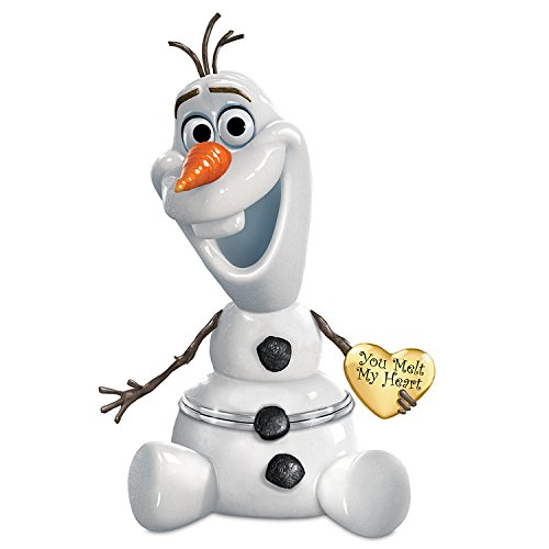 Disney FROZEN Olaf Porcelain Music Box: Granddaughter, You Melt My Heart by The Bradford ()