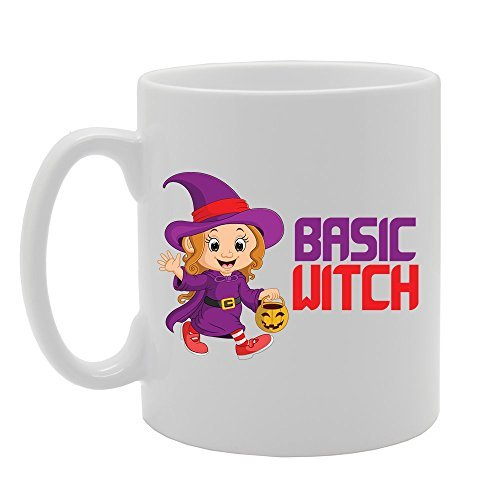 Halloween - Basic Witch Unique Present Idea for Men and Women Coffee Mug Gifts for Papa Husband Birthday Gifts Dad Gifts Sarcasm Mug Cup 11oz ()