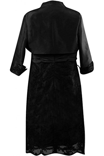 Sunvary Robe Courte Robe de Soir¨¦e Robe de Bal Robe de M¨¨re Mari¨¦e de A-Ligne sans Bretelles au Genou en Taffetas, Dentelle avec Bol¨¦ro
