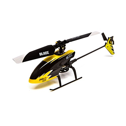 Blade 70 S RTF RC Micro Helicopter with Safe Technology | 2.4Ghz Transmitter | Battery | Charger (Yellow/Black) (R/c Mini Electric Helicopter)
