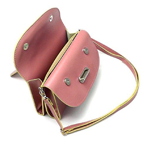 New Fashion Leather Girl Messenger Pink Shoulder Satchel Bag Malloom® Handbag Women 6wFqxdwA