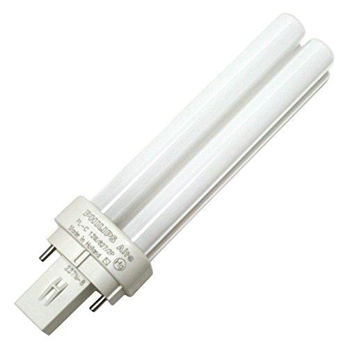 Philips Lighting 383141 PL-C Linear Compact Fluorescent Lamp 13.4 Watt 2-Pin G24d-1 Base 900 Lumens 83 CRI 2700K Incandescent White Alto ()