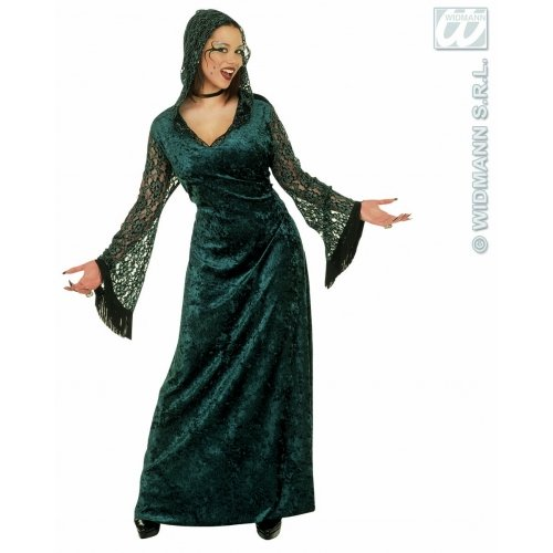 Ladies Dark Seductress Costume Large Uk 14-16 For Halloween Fancy Dress -