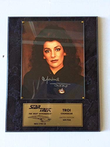 Star Trek The Next Generation Marina Sirtis as Counselor Deanna Troi Signed Autographed Limited Edition Plaque #209 of 950