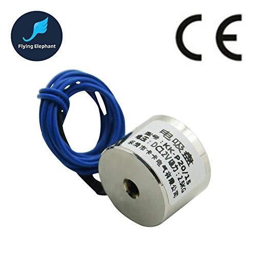 HATCHMATIC P20/15 Holding Electric Magnet Lifting 2.5KG Solenoid Electromagnet DC 6V 12V 24V: DC6V ()