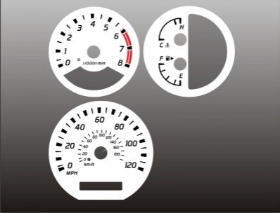 - 2002-2004 Nissan Xterra Frontier White Face Gauges 02-03