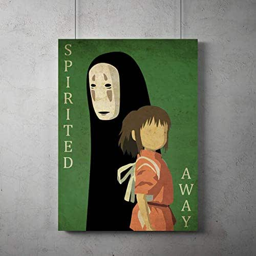 Amazon.com: Anime vintage minimalist Poster, Spirited Away ...