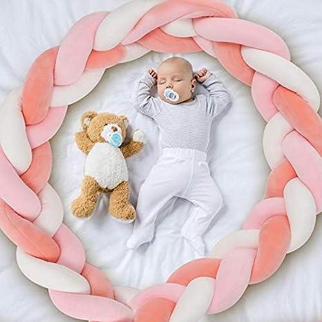 AmazeFan Bettumrandung Babybett L/änge 1.5m Baby Nestchen Bettumrandung Weben Geflochtene