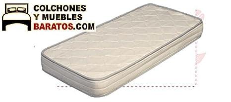 Colchón de Cuna de muelles y viscoelastica bonell visco antiasfixia. (120x60cm)