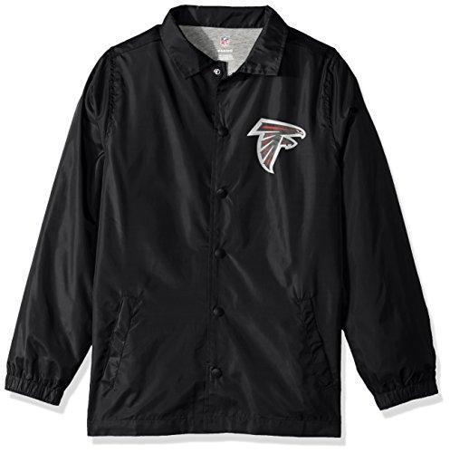 (Outerstuff NFL Youth Boys Bravo Coaches Jacket-Black-L(14-16), Atlanta Falcons)