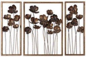 Uttermost Metal Tulips Wall Sculpture, Set of 3
