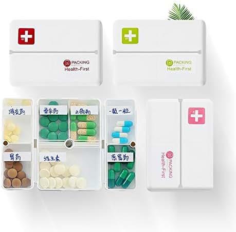 New Design Foldable Pill Box Mini Container Drug Tablet Storage Travel Case Holder, Plastic Pill Container - Day Pill Organizer, Mini Box, Medicine Case, Day Pill Box, Pill Box Organizer