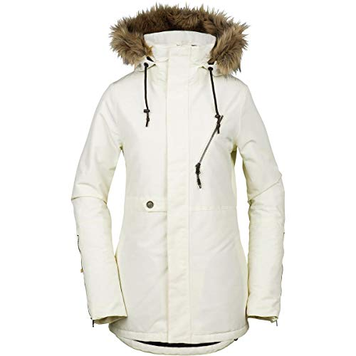 Volcom Women's Fawn Insulated Snow Jacket, Bone, Extra Small