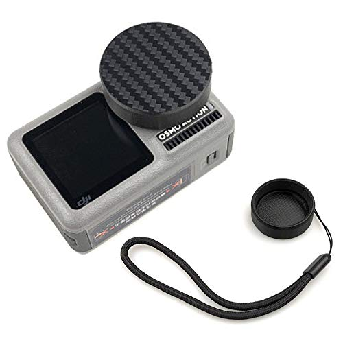 - QKOO Lens Cap for DJI Osmo Action Camera - 3D Printed Lens Protector Cover with Lanyard Protective Scratch Proof Camera Accessories