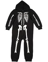 Girls Skeleton Jumpsuit One Piece Pajamas