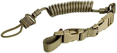 LiRongPing Cuerda de Pistola de Resorte al Aire Libre, Correa de Deportes con Cuerda de Cuerda, elástico, Seguridad Anti-perdida, Anti-Agarre, cordón (Color : Amarillo)
