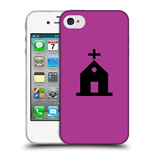 GoGoMobile Coque de Protection TPU Silicone Case pour // Q08460621 Religion 10 byzantin // Apple iPhone 4 4S 4G