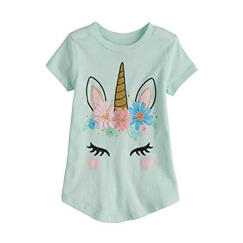 Jumping Beans Little Girls' Toddler 2T-5T Pretty Unicorn Tee 2T Mint