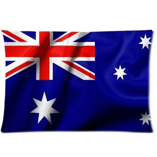 flag of australian Zippered Pillow Cases Cover 20x30 Inch