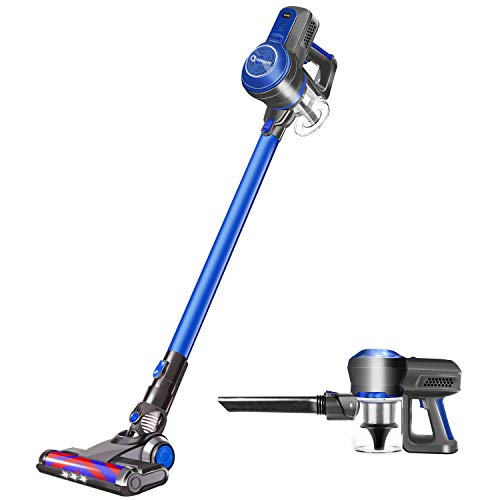 Cordless Vacuum Cleaner, 18KPa Super Suction Pet Hair Eraser, 4 in 1 Cordless Stick Vacuum, Convenient& Easy Empty Dirt Bin, 35Min Long-lasting, Lightweight& Versatile with Multiple Brush for Home Car (Dyson Cordless Vacuum)