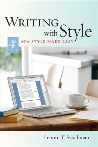 writing with style apa style made easy 感想 lenore t szuchman