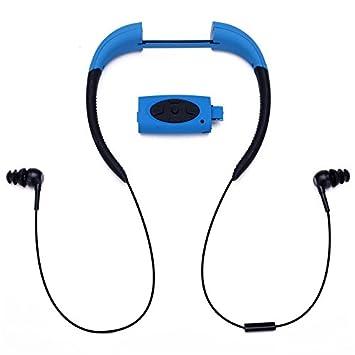 Sorliva Auriculares de natación deportivos impermeables con certificación IPX8, impermeables, Bluetooth, inalámbricos, Azul: Amazon.es: Deportes y aire ...