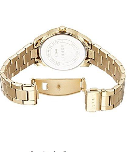 Montre Quartz acier inoxydable pour femme ,couleur or marque Esprit ( 4 coeurs sur le contour ) + un bracelet