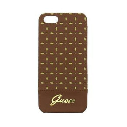 Guess Collection Gianina Coque rigide pour iPhone 5/5S – Cognac