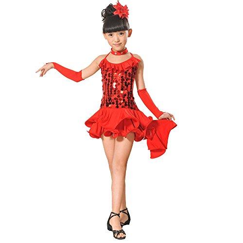 Abiti Fiore Lungo Nozze Carnevale Ragazze Zarupeng Ragazze Festa Cosplay Bambini Ballerina Pageant Rosso1 Vestito Battesimo Abito Per Compleanno Sera Cerimonia Arcobaleno CfqUY