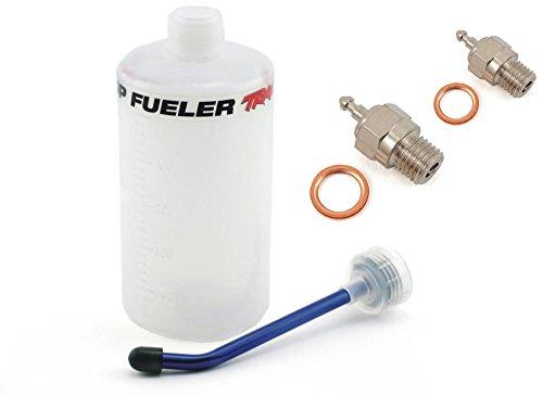 Traxxas Nitro 4-Tec 3.3 500cc FUEL BOTTLE, SPOUT & TWO SUPER DUTY GLOW PLUGS ()