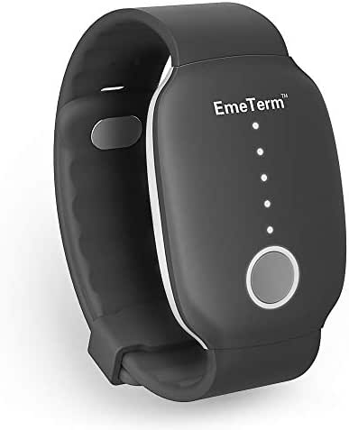 EmeTerm Motion Sickness Wristband with FDA Cleared Morning Sickness Without Side Effects Rechargeable Travel Wrist Bands Relief from Nausea, Retching, Vomiting