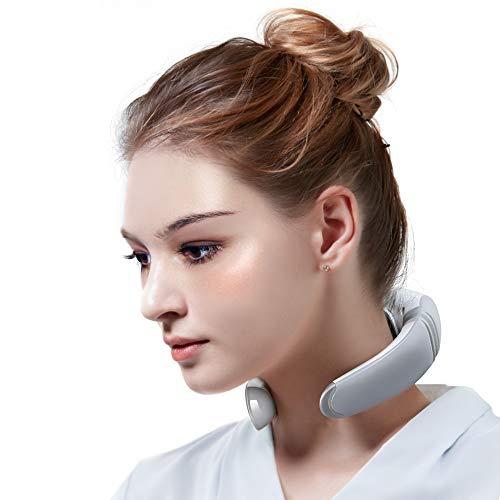 Electric Neck Massager, Portable 3D Neck Massage Equipment, Heating + Vibration + Impulse Function, Deep Tissue Massage…