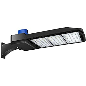 LIGHTDOT LED Parking Lot Light IP65 300W 5000K Bright White Light Super Efficiency 120LM//W Waterproof Parking Lot Lights Slip Fitter Mount AC100-277V Dusk to Dawn Outdoor Street Light with Photocell