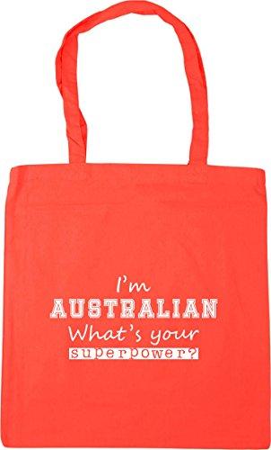 Gym Australian Your Shopping I'm Coral 10 What's HippoWarehouse Beach Tote Superpower x38cm litres 42cm Bag qpU0wxH