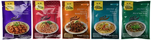 Asian Home Gourmet, Variety Pack of Asian Spice Paste, Diverse Flavors (Pack of 5)