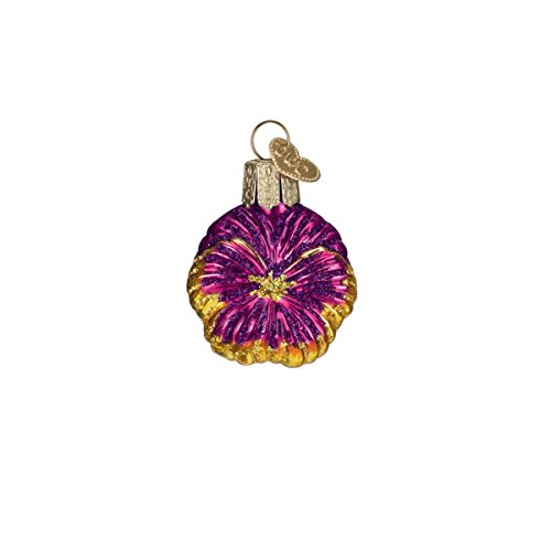 - Old World Christmas Glass Blown Ornament with S-Hook and Gift Box, Mini Garden Collection (Mini Pink Pansy)