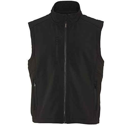 (RefrigiWear Men's Warm Insulated Softshell Vest with Micro-Fleece Lining (Black, XL))