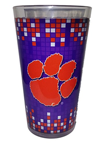 Boelter Brands Clemson Tigers 2016 National Champions BB Purple Sublimated Pint Glass (16 oz)