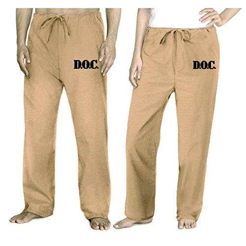 Broad Bay Prison Costume Jail Khaki Pants Jail Prisoner Ladies or Men ()