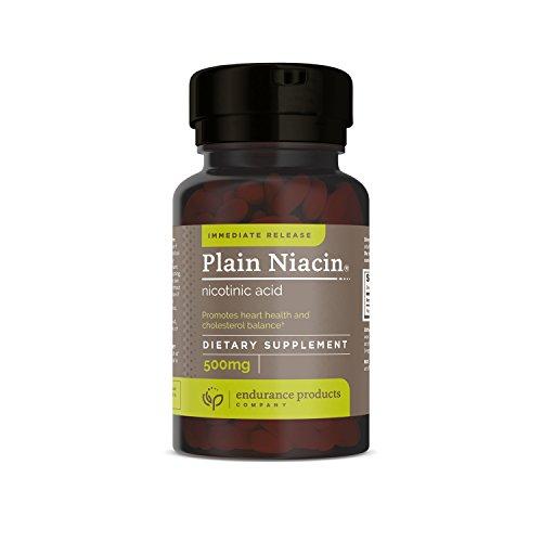 Plain Niacin Nicotinic Acid Immediate Release Niacin, 500mg 100 Tabs
