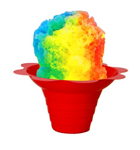 Flower Cups for Serving Shaved Ice or Snow Cones 4 oz, 500 Cups ()