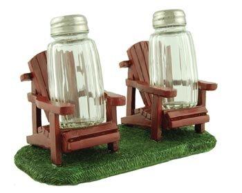 Adirondack Chairs Salt & Pepper Shaker Set, 6.5-inch (Random Color) Lodge Counter Table